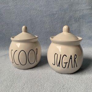 Rae Dunn Sugar and Scoop Jars